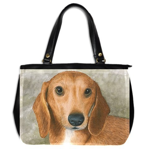 Office Handbag bag Purse from art painting Dog 88 Dachshund