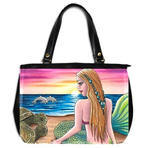 Office Handbag bag from art Mermaid 41 dolphin turtle