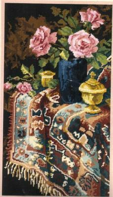 Williams Floral Still Life Needlepoint Kit Persian Rug