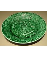 Outstanding Antique Emerald Green Wedgwood Majolica Plate  - $184.95