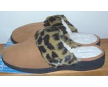 Buy Slippers - DEARFOAMS Microsuede Slippers Leopard Camel XL NEW