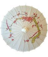 Cherry Blossoms on White Paper Umbrellas - €19,27 EUR