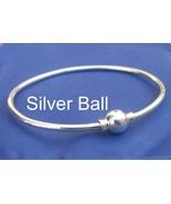 CAPE COD Single Ball 7 Inch Bangle Bracelet 925 Silver SJ34 - $53.00