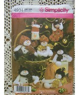 Snowmen from Simplicity~Craft Pattern Bz. - $6.95
