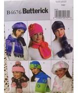 Butterick Hats & Scarves 4676~Craft Pattern Bz. - $6.95