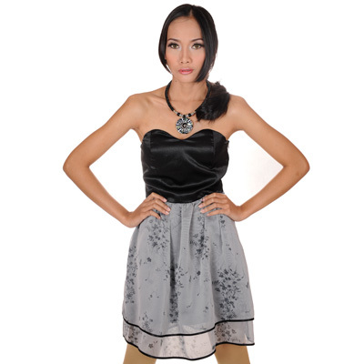 Sophistix - Kiera Black Sleeveless Bustier Dress : Sizes S M L XL