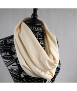 Infinity Scarf Cream Off White Circle
