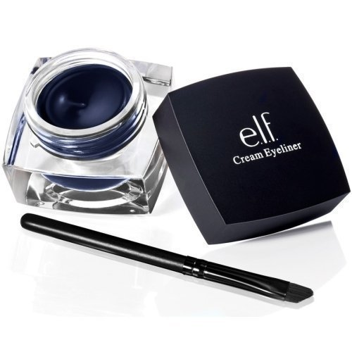 E.L.F. CREAM EYELINER MIDNIGHT Blue Liner Gel Brush ELF