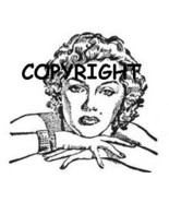 MARILYN MONROE ON FOLDED ARMS NEW MOUNTED RUBBE... - $7.65