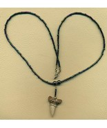 Fossil Tooth Beaded Necklace 22 - $35.00