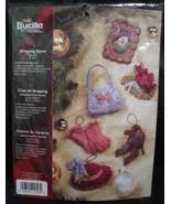 Bucilla Shopping Spree Xmas ornament kit shoes purse hat  - $19.99