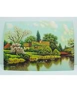 Friendly Cottage Vintage 1940s Art Print Litho ... - $9.95