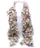 Soft floral ruffled skinny fashion women's scar... - $10.39