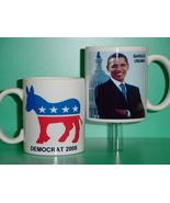 Barack Obama Democrat 2 Photo Collectible Mug 01 - $14.95
