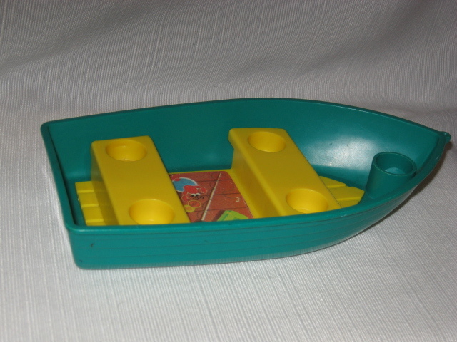 Vintage 1972 Fisher Price Little People Boat For Camper #994