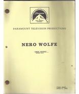 Nero Wolfe Sweet Revenge Final Draft Script Apr... - $9.99