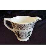 Homer Laughlin Liberty Shape Windsor White Rose Gold Trim Cr - $8.00