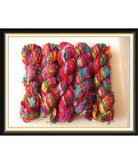 Recycled sari silk yarn crochet knitting thread... - $95.39