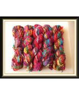 Recycled sari silk yarn crochet knitting thread... - $115.19