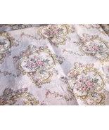 1 1/3 YDTan Rose Print Fabric/Upholstery Fabric... - $20.00