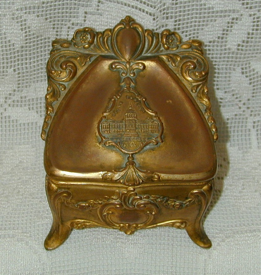 Fabulous Antique Metal Jewel Box