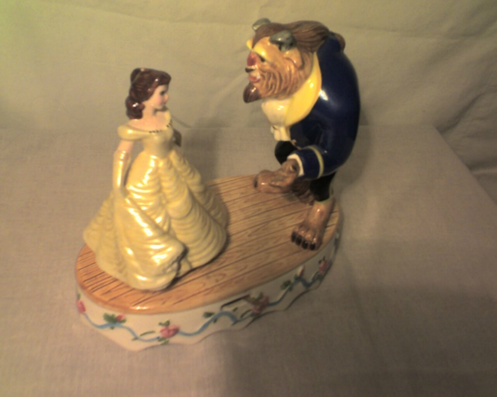 Disney Schmid BEAUTY AND THE BEAST music box FREE SHIPPING