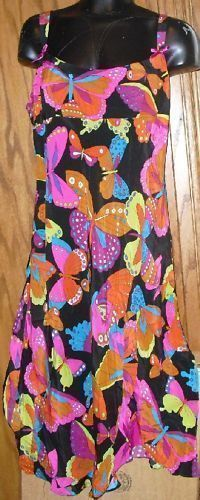NANETTE LEPORE colorful DRESS size 8 BUTTERFLY design