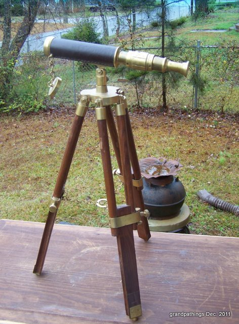 VINTAGE NAUTICAL BRASS TELESCOPE  HARBOUR TELESCOPE LOT # 74