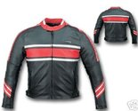 Buy Apparel - BLACK/RED LEATHER MOTORCYCLE SPORTS RACER JACKET NEW