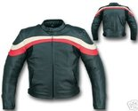 Buy Apparel - BLACK/RED LEATHER MOTORCYCLE SPORTS RACER JACKET