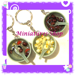 NEW KAWAII MINIATURE FOOD CHINESE DESSERT BOWL CHARMS SERIES