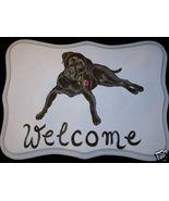 Labrador Retriever Custom Painted Welcome Sign ... - $35.00