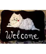 Pomeranian Dog Custom Painted Welcome Sign Plaque - $35.00