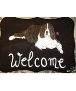 English Springer Spaniel Custom Painted Welcome... - $35.00
