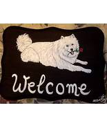 Samoyed Dog Custom Painted Welcome Sign Plaque - $35.00