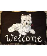 Westie Terrier Dog Custom Painted Welcome Sign ... - $31.95