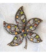 Elegant Avon Multicolored Rhinestone Autumn Lea... - $19.95