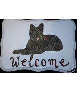 Briard Dog Custom Painted Welcome Sign Plaque - $31.95