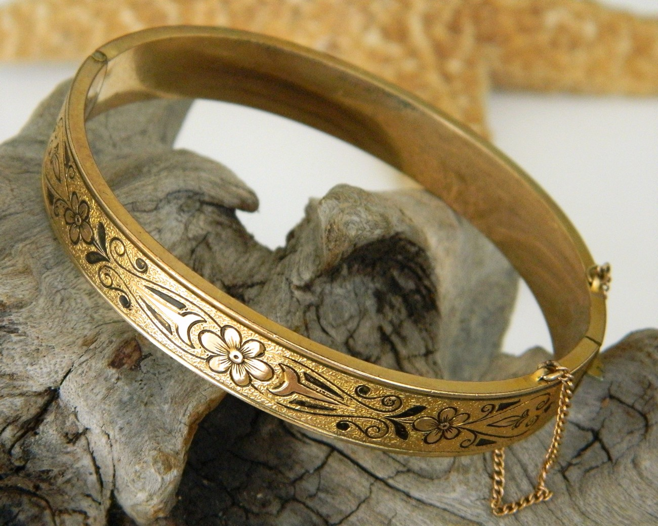 10k_gold_filled_hinged_bracelet_bangle_vintage