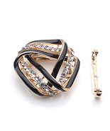 Diamond Simulants Black Twist Triangle scarves ... - $15.00