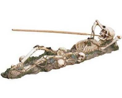 Image 1 of Skeleton Incense Burner Holder