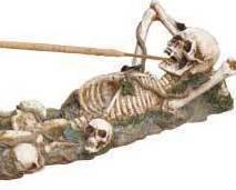 Image 2 of Skeleton Incense Burner Holder