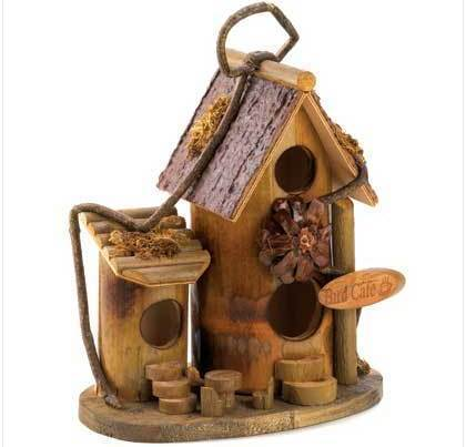 Bird Cafe Wood Birdhouse