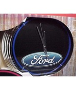 Ford Motor Blue Neon Clock Wall Sign Advertisin... - $44.95