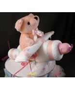 Pink AIRPLANE Baby Shower Diaper Cake TOPPER De... - $28.00