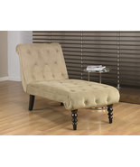 Avenue Six Coffee Fabric Tufted Top Curved Leg ... - $399.99