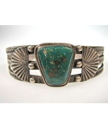 Old Navajo Bracelet with Cerrillos Turquoise - $265.00