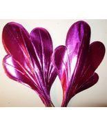12 Vintage Pink Foil Paper Leaf Floral Pick 8