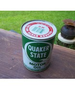 Rare Quaker State Motor Oil Can Nice Old Vintag... - $65.00