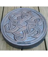 Celtic stone concrete cement stepping stone mold - $22.00